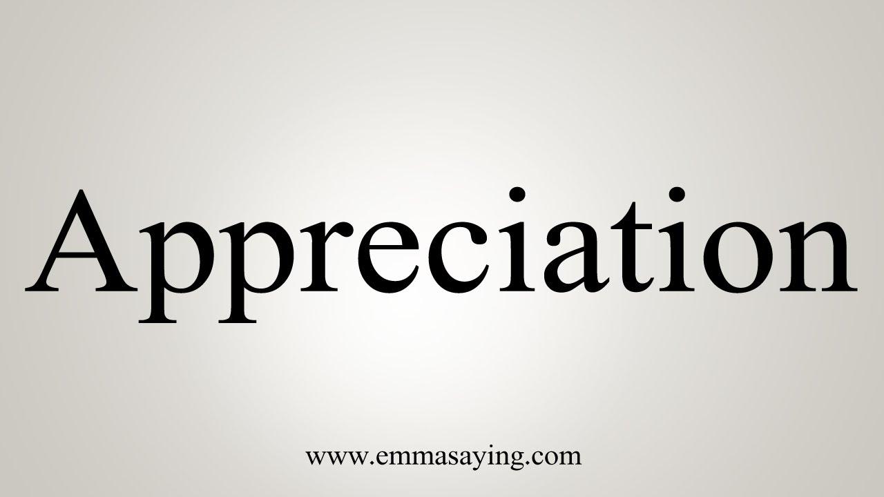 How To Say Appreciation
