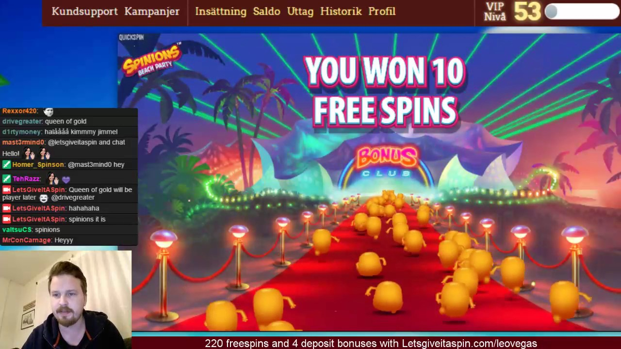 Sunday high roll casino with 2000 freespin giveaway