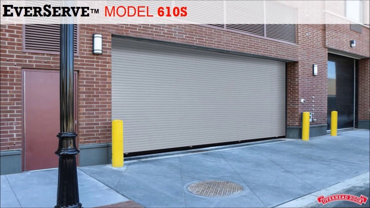 Springless Rolling Service Door - EverServe from Overhead Door & Springless Rolling Service Door - EverServe from Overhead Door - YouTube