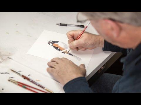 Inside David Allen Sibley's Studio