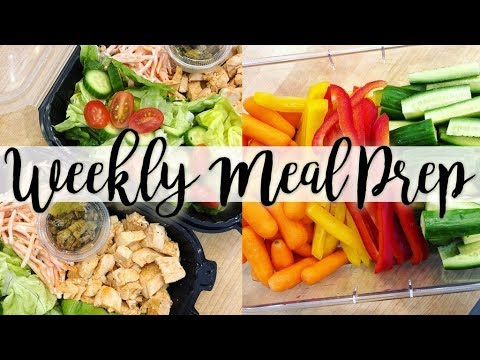 Meal Prep! Lemon 🍋 Thyme Chicken Orzo, Buffalo Chicken 🥗 Salad, Peanut Butter Banana 🍌 Muffins!