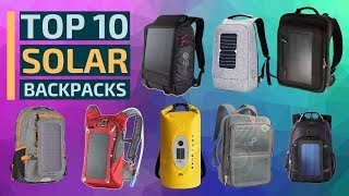 Top 10: Best Solar Backpacks of 2019 / New Anti-Theft Laptop Backpack, Waterproof, Travel Backpack