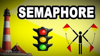 🚂🚩 Learn English Words - SEMAPHORE - Meaning, Vocabulary with Pictures and Examples