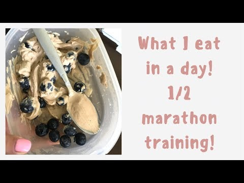 WHAT I EAT IN A DAY||COLLAB||WHILE TRAINING FOR A HALF MARATHON