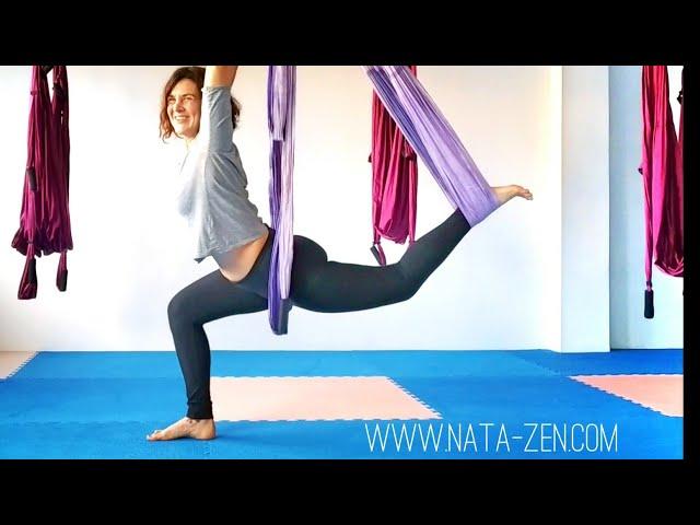 Yoga Aéreo en español con NataZen: estira el psoas y adiós dolor de espalda 💪💪🤸
