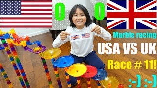 Marble Racing Olympic Games, USA Versus United Kingdom! Kids