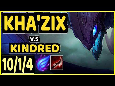PRIDE (KHA'ZIX) vs KINDRED - 10/1/4 KDA JUNGLE CHALLENGER GAMEPLAY - EUW