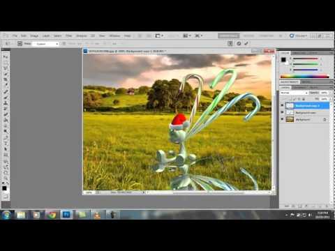 Hướng dẫn tách và ghép hình trong PhotoShop CS5.flv