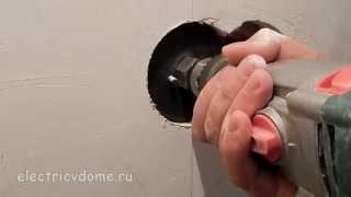 Перенос розеток и выключателей  Как перенести выключатель в гипсокартонной стене(Часто бывает что при ремонте необходимо перенести розетку или выключатель с одного места на другое. Иногда..., 2014-11-09T07:15:53.000Z)