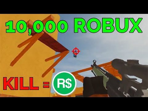I Get 10 000 Robux If I Get This Kill Roblox Arsenal Youtube