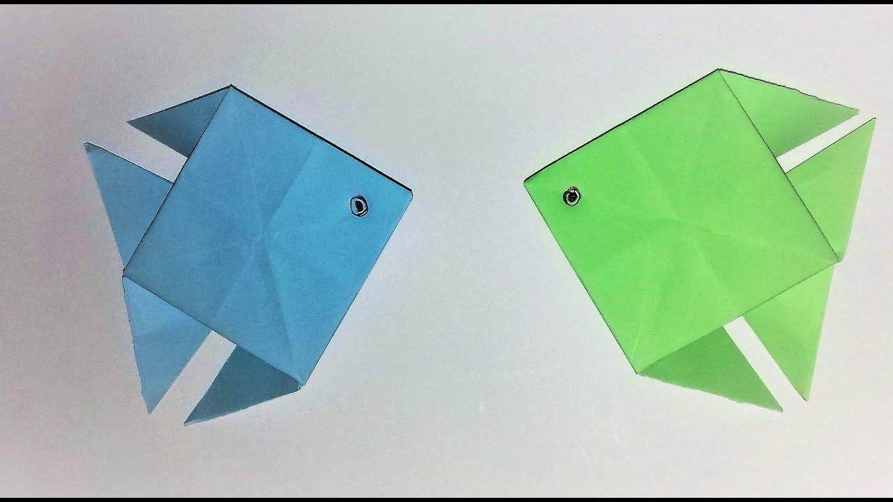 Origami Pesce Fish Laboratorio Ri Creativo Youtube