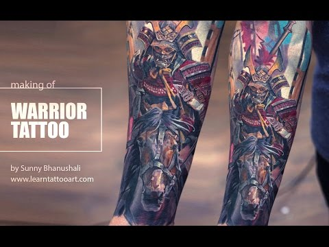 Colour Realism - Making of Warrior Tattoo by Sunny Bhanushali - Time Lapse