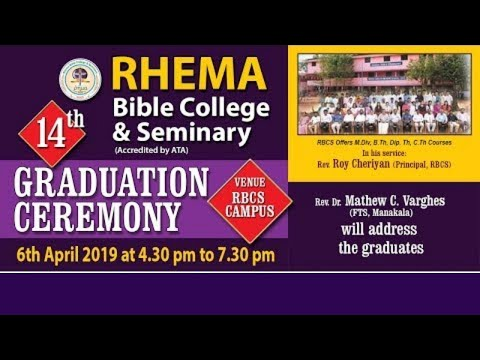 RHEMA BIBLE COLLEGE & SEMINARY | 14th GRADUATION