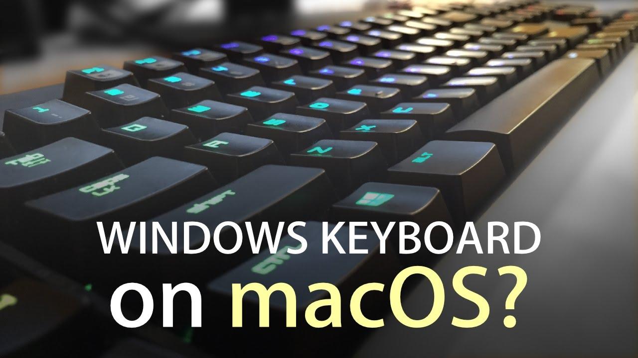 Windows Keyboard on a Mac