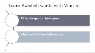 Learn Swedish = Vocabulary = Hats and headgear