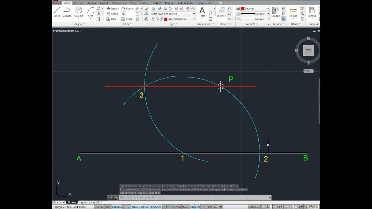 Parallela ad una retta passante per un punto p geometria for Punto p esterno alla circonferenza