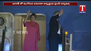 US President Donald Trump India Tour Ends  Telugu