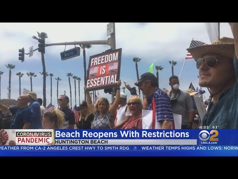 'Freedom Is Essential': Protesters In Huntington Beach Say Facilities Should Reopen Fully
