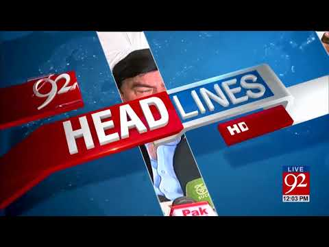92 News HD Plus Headlines 12:00 PM- 04 November 2017