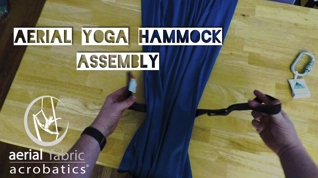 aerial yoga hammock assembly   youtube  rh   youtube
