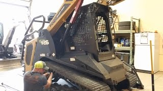 Fixing a bogey wheel on the ASV RT120 Forestry Mulcher