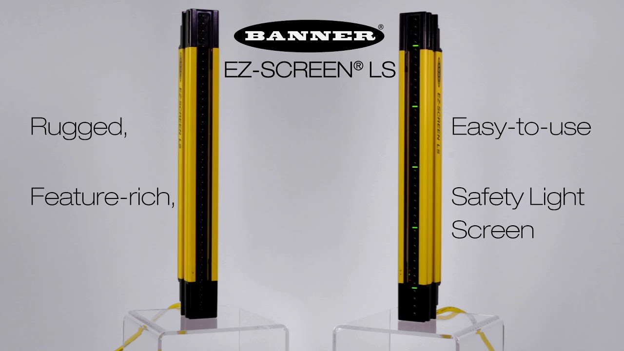 hight resolution of safety light curtain ez screen ls product video youtube rh youtube com ez wiring harness manual banner ez screen wiring diagram