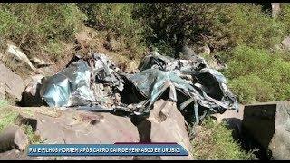 Pai e filhos morrem após carro cair de penhasco em Urubici