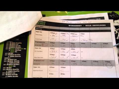 Beast Workout Sheet New And Improved Body Beast Workout Sheets