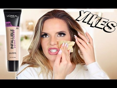 L'OREAL Infallible TOTAL COVERAGE 24 HR Foundation Review & Wear Test | Casey Holmes