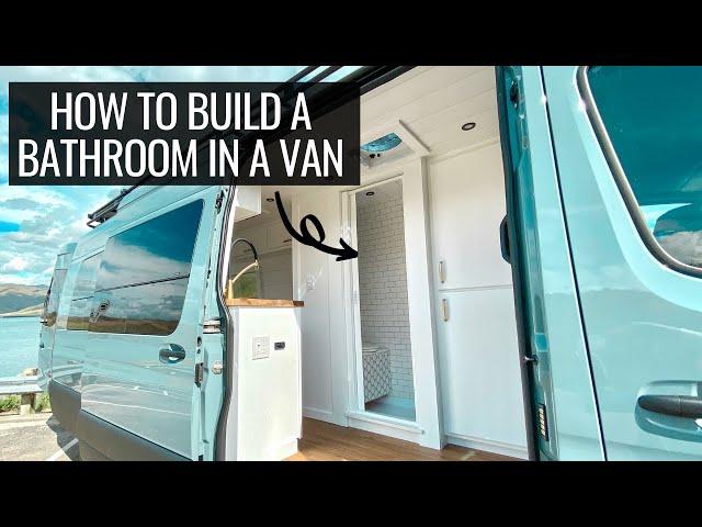building a bathroom in a van | VAN BUILD SERIES (episode 2)