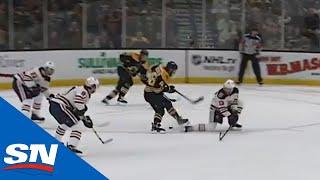David Pastrnak Dekes Around Edmonton Oilers for Great Goal