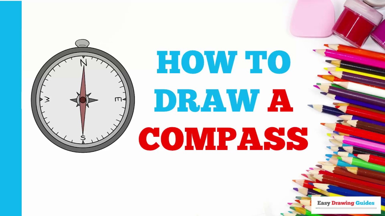 How To Draw A Compass In A Few Easy Steps Drawing Tutorial For