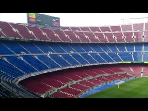 TOUR Inside Camp Nou Stadium Barcelona 2012
