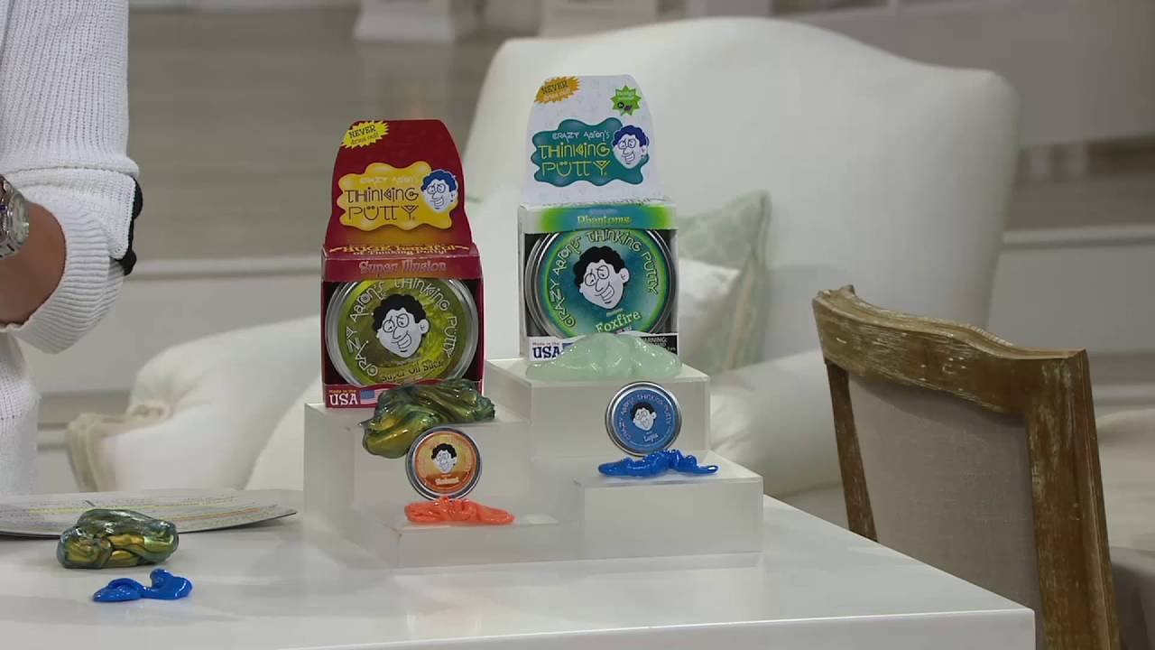 Crazy Aarons Thinking Putty W Two 4 Tins Two 2 Tins On Qvc