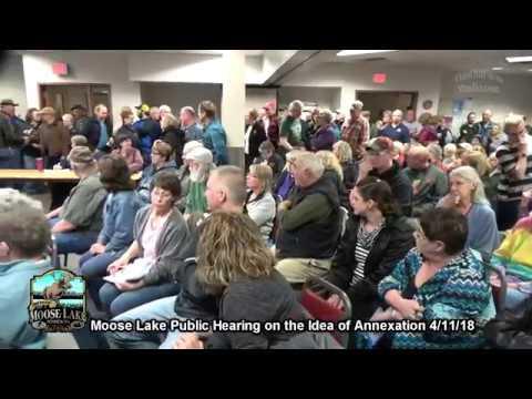 Moose Lake Annexation Public Hearing 4/11/18