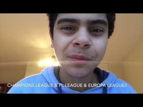 Champions league & pl league & europa league scores