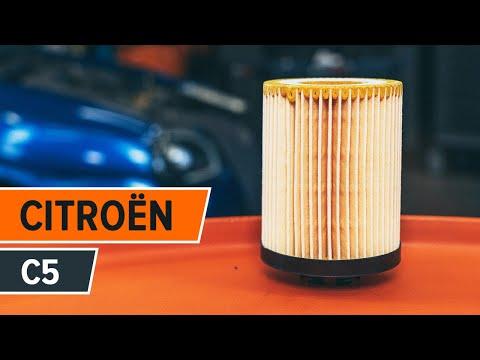 Jak vyměnit motorový olej a olejový filtr na CITROËN C5 NÁVOD