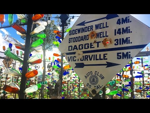 Route 66's AMAZING Bottle Tree Ranch - the Weirdest forest in America