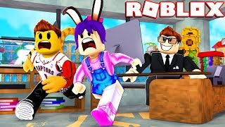 TRAPPED IN THE OFFICE - ROBLOX - ROBLOX HQ OBBY!!!