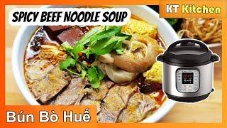 Bún Bò Huế Cấp Tốc - Công Thức Nhà Hàng - Spicy Hue Beef Noodle Soup Recipe - ENGLISH CAPTION