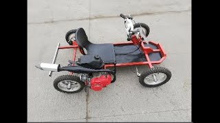 transformation bicycle to bike go kart
