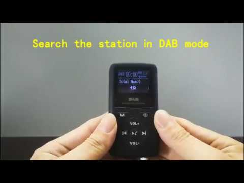 Portable Pocket DAB Digital Radio Receiver with Bluetooth MP3 Player