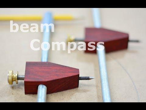 Shop built - beam compass (trammel points)