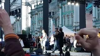 Шнур на Дворцовке отжигает ... #ленинград