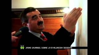 Jaime Gajardo Explicando la Evaluación Docente