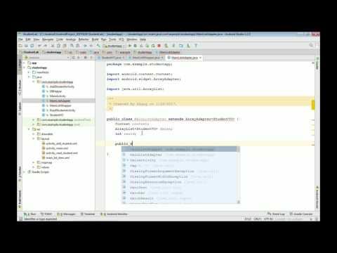 안드로이드 앱 프로그래밍 무료 강좌7 (VO 및 Wrapper, Adater 클래스)