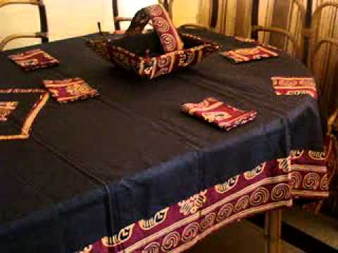 nappe lingerie et accessoires de table h l ne design youtube. Black Bedroom Furniture Sets. Home Design Ideas