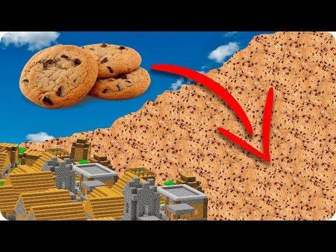 TSUNAMI DE GALLETAS DE CHOCOLATE EN MINECRAFT   RETO DE LA BASE VS TSUNAMI EN MINECRAFT