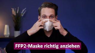 Max leschanz erklärt, wie man eine ffp2-maske richtig an- und ablegt, sie am besten reinigt.