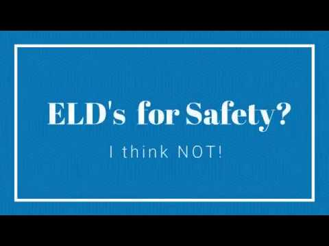 ELD opinion?... E-Logs aren't the answer, just look at Swift!